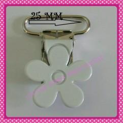 Pinza para chupetero Flor Blanca