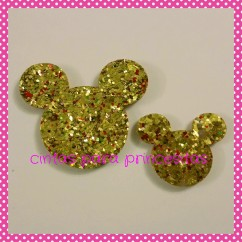 APLIQUE PURPURINA / FIELTRO MICKEY / MINNIE