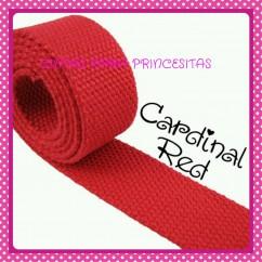 Canvas 25mm Rojo