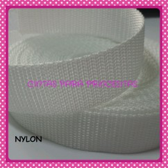 Nylon de 25mm Blanco