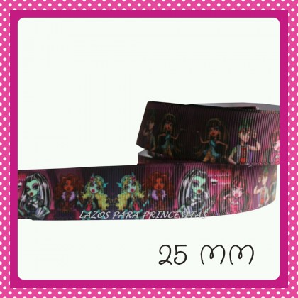 CINTA MONSTER HIGH FONDO BURDEOS