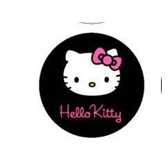 HELLO KITTY FONDO NEGRO